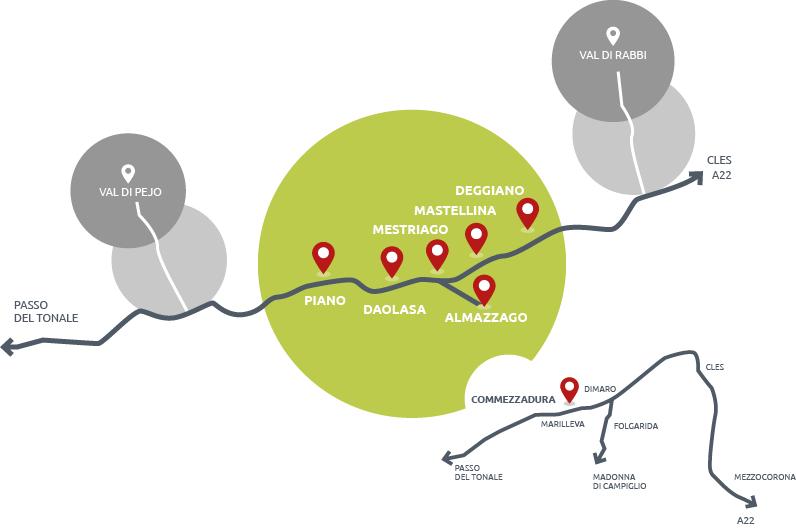 Commezzadura località mappa